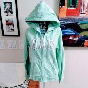 ⬇️🌱 Gap Mint Green Zip Up Hoodie Sweatshirt